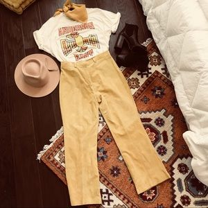 Yellow Suede Pants